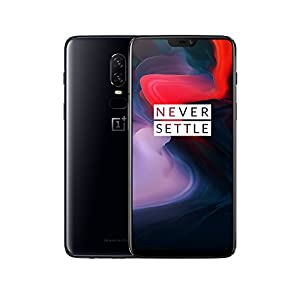 OnePlus 6 Smartphone (15,95 cm (6,28 Zoll) 19:9 Touch-Display, 64 GB interner Speicher, Android 8.1 Oreo/Oxygen OS 5.1), Mirror Black