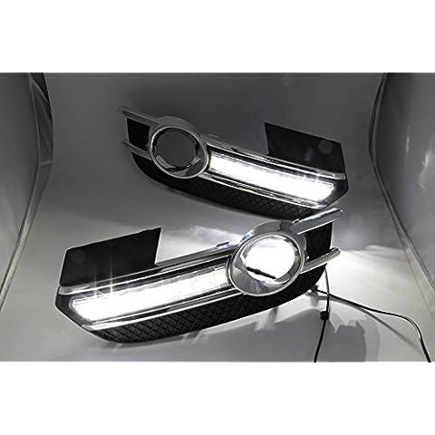 XRQ all' ingrosso LED DRL luce di marcia diurna guida luce per Audi Q32013-now guida luce dimmer Super luminoso di alta qualità