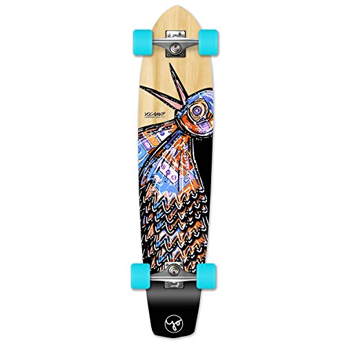 Yocellow The Bird Series Natural Longboard Komplett Skateboard - in Allen Formen erhältlich, SlimKick (Atom Skateboard Kicktail)