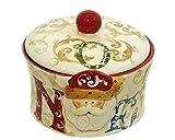 Keksdose Weihnachtsmann aus Keramik Durchmesser 16cm hoch 14cm