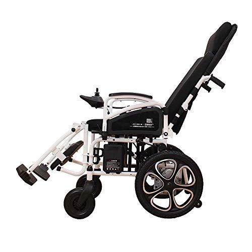 Wheelchair Voll liegender elektrischer Rollstuhl Leichte Klapprollstühle mit Verstellbarer hoher Rückenlehne und abnehmbarem Fußpedal