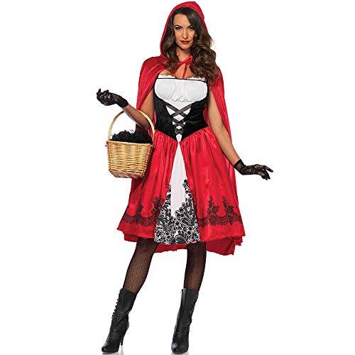 Zhongsufei Kapuzenumhang Langes Cape Weibliche volle Länge mit Kapuze Mantel Erwachsene Samt Cape Halloween Party Cosplay Kostüm Mantel Für Halloween Weihnachten Cosplay Kostüm (Größe : L) (Velvet Riding Hood Kostüm)