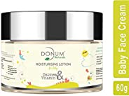 Donum Naturals Chemical Free Moisturizing Face Skin Cream with Saffron & Vitamin F Oatmeal for Baby -