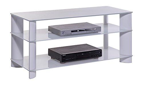 BFK Möbel Collection Signo TV-Phonotisch, Glas, weiß, 45x110x52.5 cm (Plasma-tv-licht)