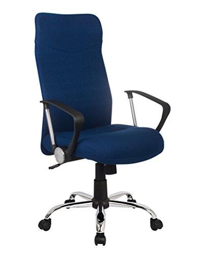 SixBros. Chefsessel Bürostuhl Drehstuhl Schreibtischstuhl Blau H-935-6/2467