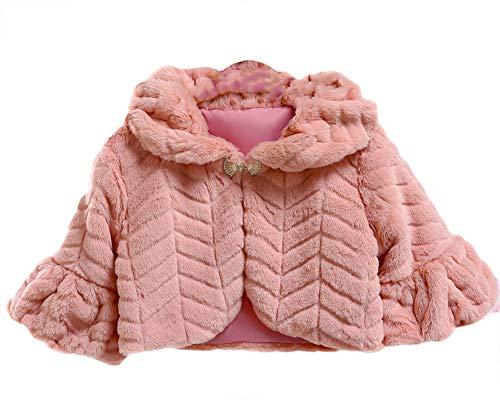 Sk studio bambine giacca pelliccia ecologica bolero stola coprispalle cappotti spalla mantella