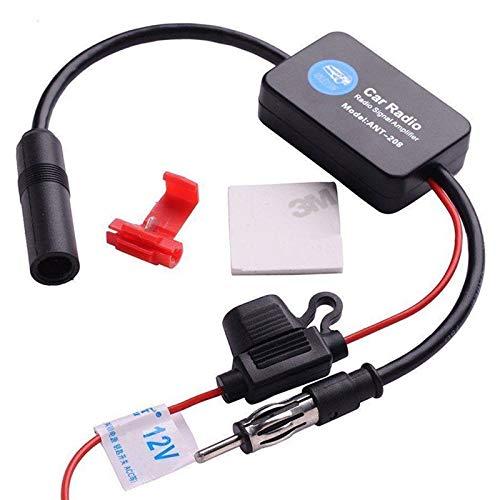 Lanyifang Amplificador de Señal Intensificador de Señal de Coche Estéreo FM y...
