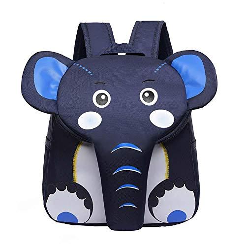 Topdo - Mochila Ligera con diseño de Elefante, diseño portátil para Escuela, Bolsa de Aire de Oxford, pícnic, para guardería, Preescolar, para niños b 21 * 10 * 28CM