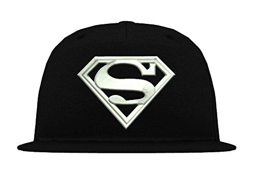 TRVPPY 5-Panel Snapback Cap Modell Superman, Weiß-Schwarz, B610 - Hat Tisa