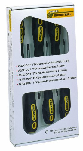 PROXXON 22640 Satz FLEX-DOT Torx Schraubendreher TX/TTX 6 teilig
