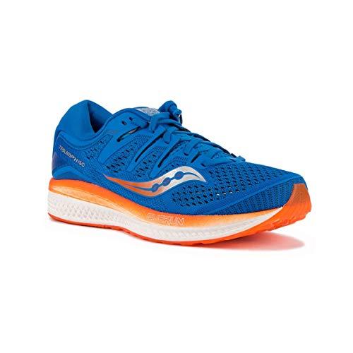 Saucony Triumph ISO 5, Chaussures de course pour homme, Bleu (Bleu / Orange 36), 40.5 EU