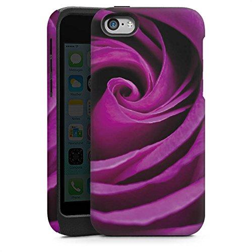 Apple iPhone 4 Housse Étui Silicone Coque Protection Lilas Rose Fleur Cas Tough brillant