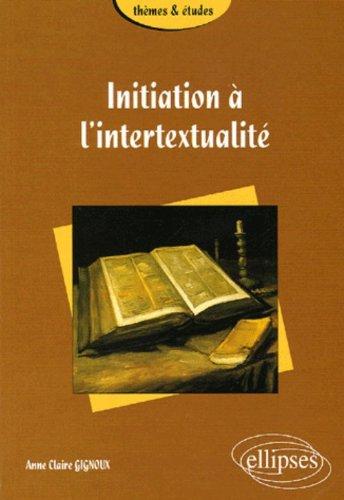 Initiation  l'intertextualit