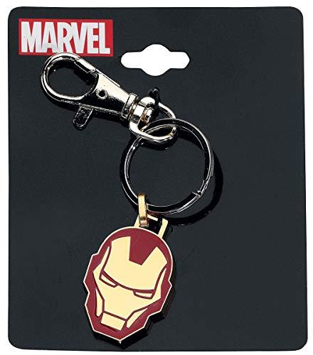 Iron Man Head Schlüsselanhänger rot/Gold