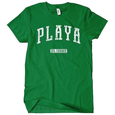 Smash Transit Women's Playa del Carmen Mexico T-shirt - Kelly Green, X-Large
