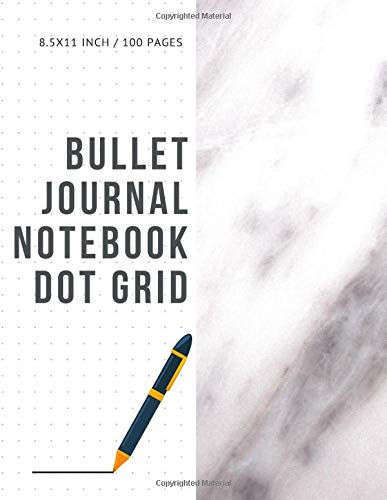 Brown Dots Ribbon (Bullet Journal Notebook Dot Grid: Cheap Composition Journals Books College Ruled To Write In Letter Paper Size 8.5 X 11 Volume 23)