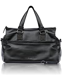 Bugatti Senso RFID Leatherette Travel Bag For Women - Noble Weekender In Black