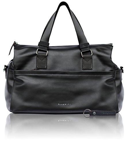 bugatti Senso RFID Kunstleder Reisetasche für Damen - Edler Weekender in schwarz