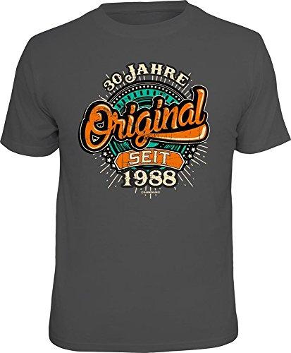 30 Jahre - Original seit 1988 - T-Shirt - Grösse XL - Fun Spaß Sprüche