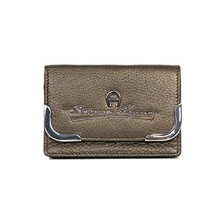 Aigner Leder Kartentasche bronze