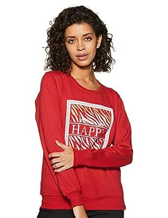 Cazibe Women's Fleece Sweatshirt (305BOU_Red_Medium)