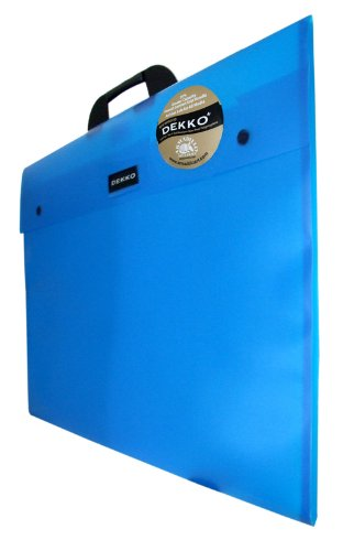 West Design DKTGA3BL Westfolio - Sammelmappe mit großer Seitenfalte, DIN A3, Typ G, blau