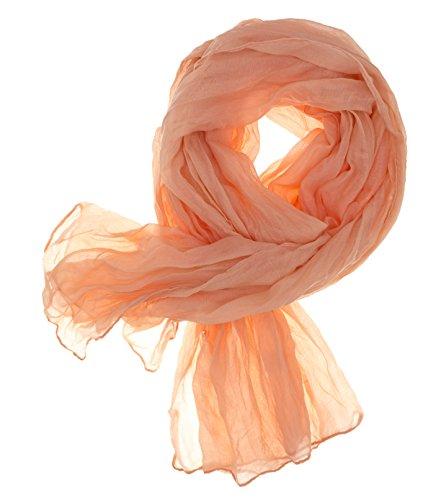 DOLCE ABBRACCIO CRAZY MAMA Damen Schal Halstuch Tuch Damenschal aus Baumwolle MASH Schals Ganzjährig Frühling Sommer (Apricot)