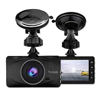 Full HD 1080P Dashcam Autokamera mit 3 Zoll LCD Bildshirm 170 Weitwinkelobjektiv Nachtsicht Dash cam mit G-Sensor,4-Spur-Weitwinkelobjektiv G-Sensor Parkmonitor WDR Bewegungserkennungs-Loop-Aufnahme