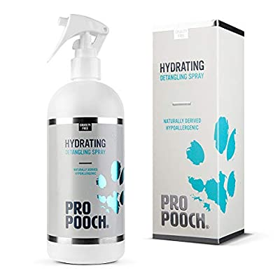 Pro Pooch Dog Detangler Spray (500 ml) | Hypoallergenic Leave In Conditioner Spray For De Matting | Leaves Fur Tangle Free | 50% Less Brushing Time | Professional Groomer Formula by E&L Enterprises Ltd