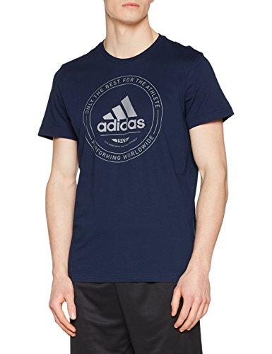 adidas Adi Emblem Camiseta, Hombre, Azul (Maruni), L