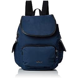 Kipling City Pack S, Mochila para Mujer, Azul (Satin Blue C), 15x24x45 cm (W x H x L)