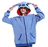Lazutom Anima Hoodie Vestes Sweat à Capuche Jacket Animaux Cartoon Cosplay Zip Up...