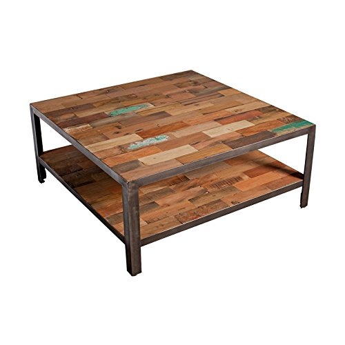 Table basse carrée double plateau - FABRIK - L 80 x l 80 x H 35 - NEUF