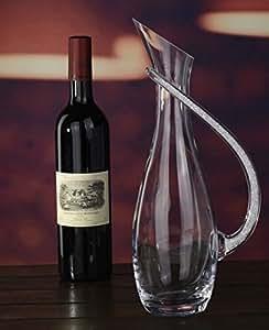 Carafe à vin en cristal d'eau avec poignée en cristal Swarovski rempli