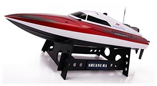 PREMIUM Schnelles RC Motorboot Speedboot Rennboot ferngesteuert (bis zu 30 km/h) + Fernbedienung (Ball Hog Kostüme)