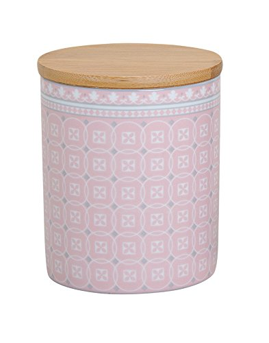 Vorratsdose 'Retro Look' Vorratsbehälter Kaffeedose Teedose Porzellan mit Deckel Bambus Vintage...