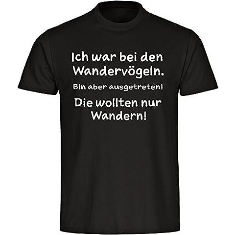 T-Shirt Wandervögel schwarz Herren Größe S bis 5XL, Größe:L