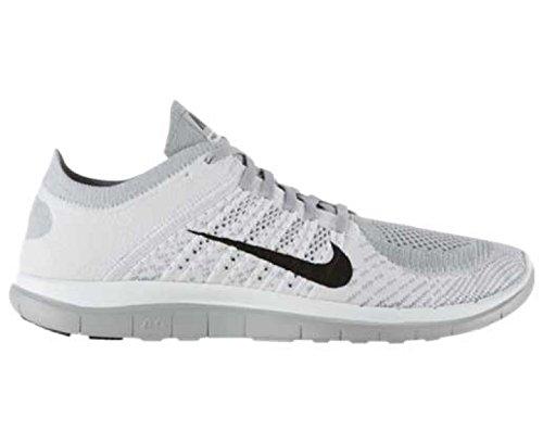 Nike Free 4.0 Flyknit, Chaussures de running homme Blanc/Gris/Noir