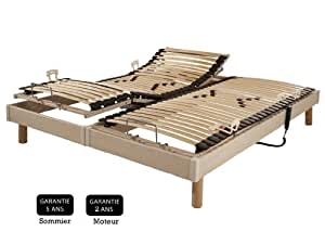 Promo matelas sommier relaxation lectrique s60 erable - Matelas 70 x 190 pour lit electrique ...