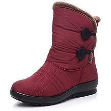 Botas Impermeables para la Nieve HAINE, Botas de Invierno para Mujer, cálidas y al