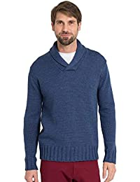 WoolOvers Pull col châle - Homme - Pure Laine