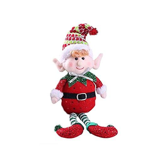 Stoffpuppe Weihnachtselfen Kinder Geschenk - Elfe Figur Hängende Ornamente Weihnachtsbaum Deko - Tisch Deko Von 332PageAnn