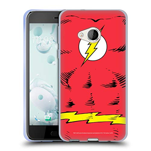 Head Case Designs Offizielle The Flash DC Comics Kostum Logo Soft Gel Huelle kompatibel mit HTC U Play/Alpine (Men's Alpine Kostüm)