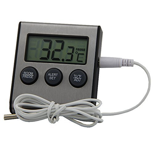 Easy to Read: Metal Refrigerator Freezer Thermometer