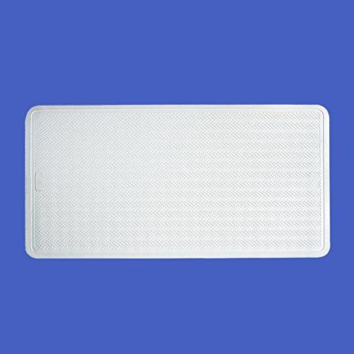 Baño antideslizante tapetes guijarro suave baño antideslizante alfombra de bañera con ventosas grande cremoso-blanco color sólido-A 28x16inch
