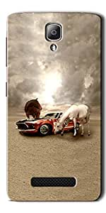 FROST IMAGES High Quality Silicon Printed Designer Back Cover for Lenovo A1000 - Multicolor