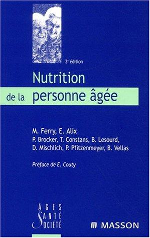 Nutrition de la personne âgée