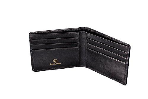 Cronus-Rhea-Luxus-Geldklammer-aus-exklusivem-Leder-Ladon-Kartenhalter-Kartenetui-Geldbeutel-Geldbrse-Echtleder-Mit-eleganter-Geschenkbox-Herren-Damen-Schwarz