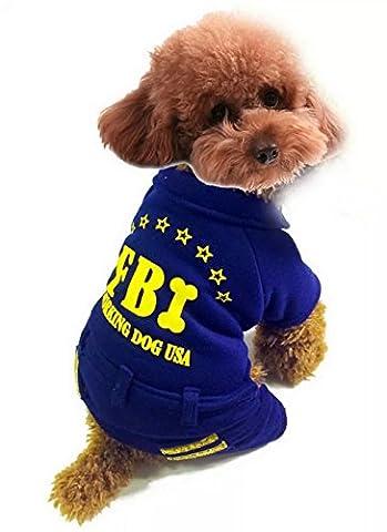 ranphy Kleiner Welpe/Tier Kleidung für weiblich männlich FBI Arbeiten Outfit