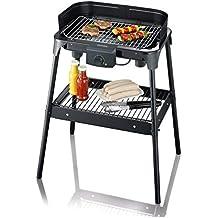 SEVERIN PG 8532 Barbecue-Grill (2.500W, Standgrill, Grillfläche (41 x 26cm)) schwarz (Zertifiziert und Generalüberholt)